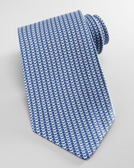 Butterflies Silk Tie, Blue