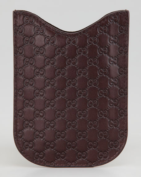GG Leather Blackberry Case, Brown