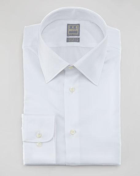 Herringbone Dress Shirt, White