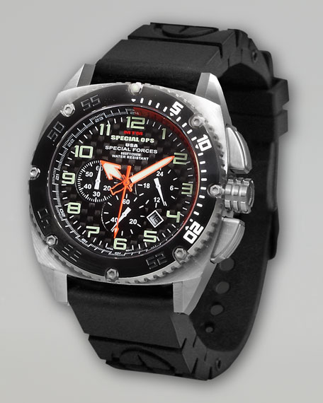 Two-Tone Patriot Military Chronograph Watch