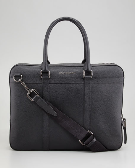 Pebbled Leather Briefcase