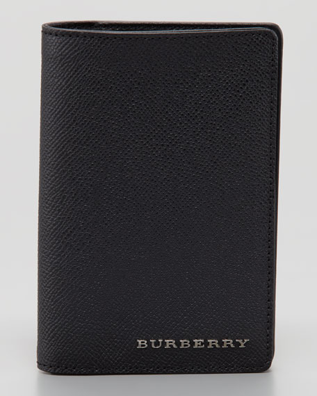Leather Passport Case, Black
