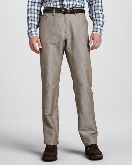 Stelvio Linen-Cotton Pants