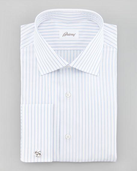 Textured Striped Dress Shirt
