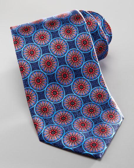 Starburst Silk Tie, Blue