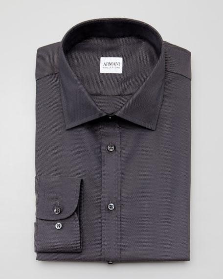 Twill Dress Shirt, Charcoal