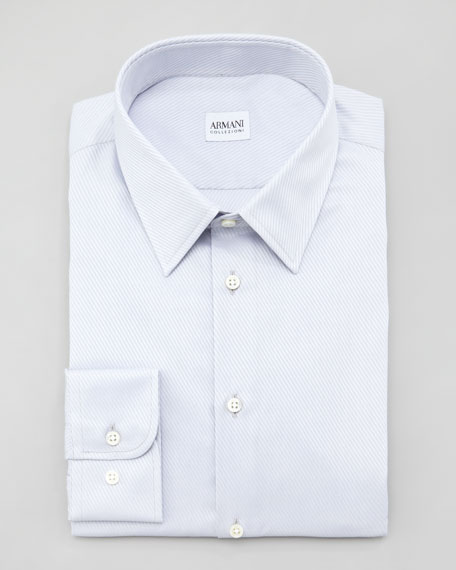 Fancy Twill Dress Shirt, Gray