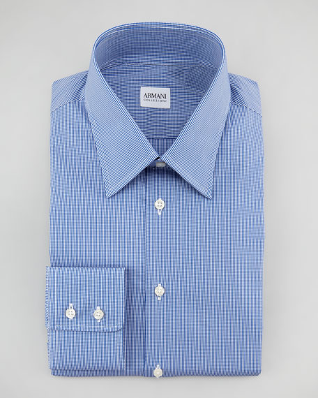 Mini-Gingham Dress Shirt