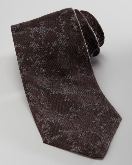 Abstract Silk Tie, Black