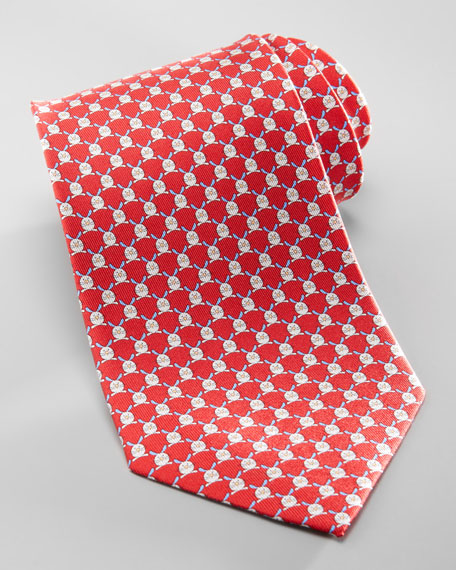 Rabbit Silk Tie, Red