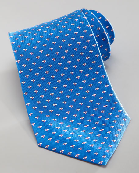 Micro-Bee Silk Tie, Blue