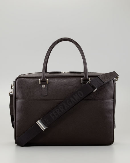 Revival One-Gusset Briefcase, Brown
