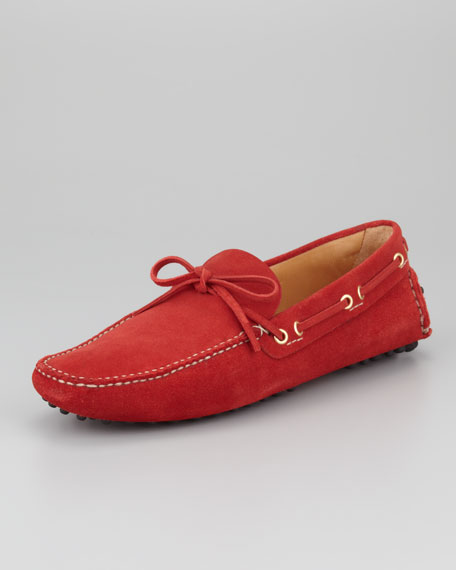 Classic Suede Driver, Red