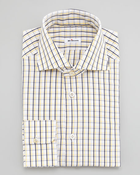 Graph-Check Dress Shirt, Yellow