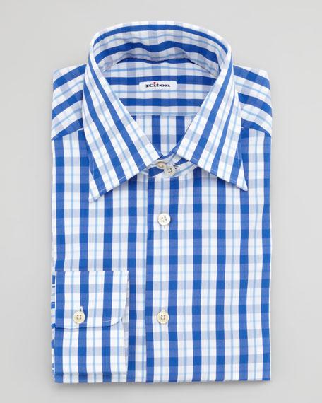 Tattersall Check Dress Shirt, Blue