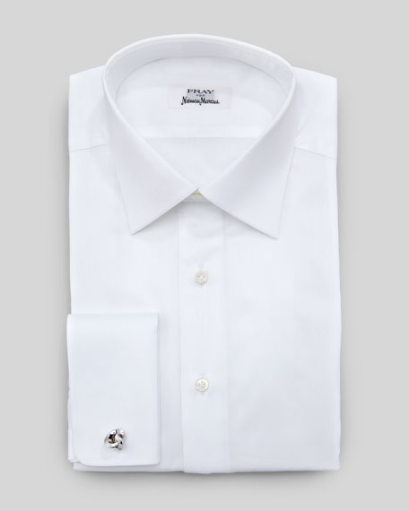 Micro-Twill French-Cuff Dress Shirt