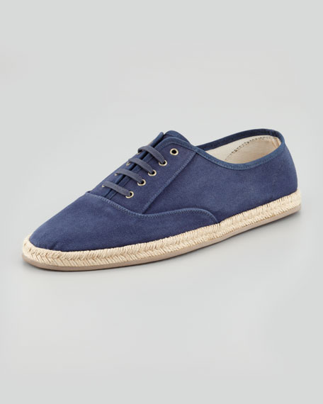Lace-Up Canvas Espadrille Sneaker, Navy
