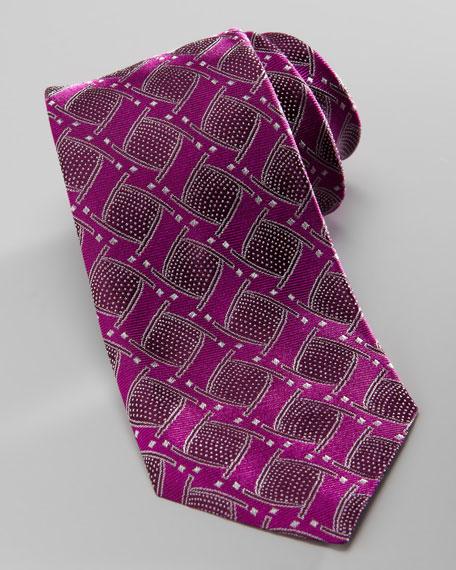 Geometric Jacquard Tie