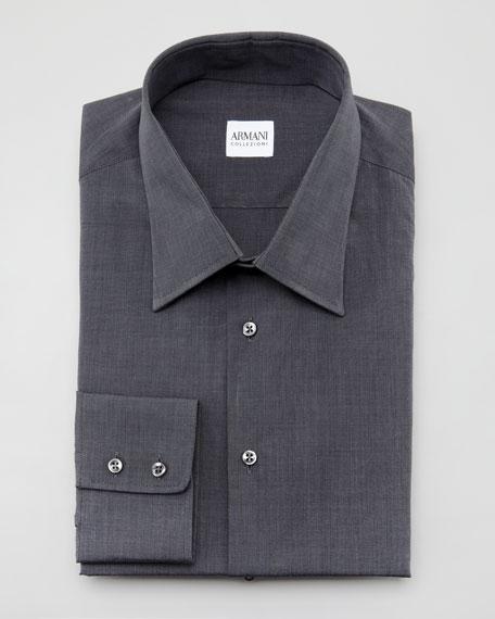 Solid Dress Shirt, Charcoal