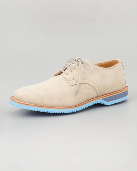 Chase Suede Derby, Gray/Blue