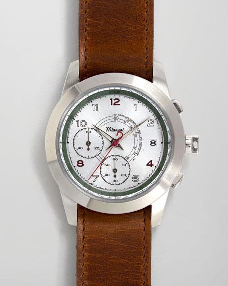 M2 Ribbon-Trim Chronograph Watch, Cognac