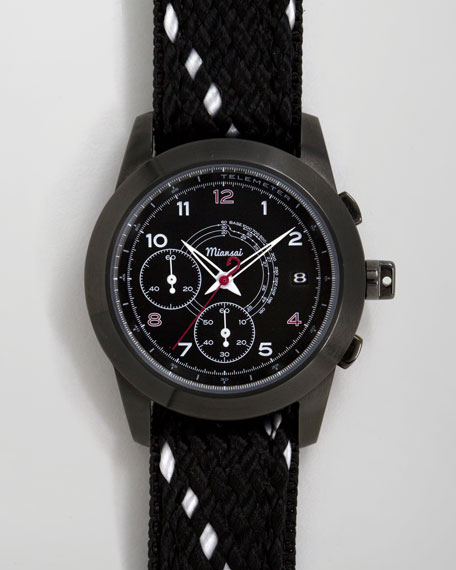 M2 Rope-Strap Chronograph Watch, Black