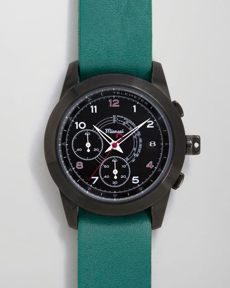 M2 PVD Chronograph Watch, Teal