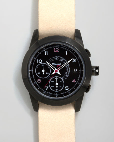 M2 PVD Chronograph Watch, Natural