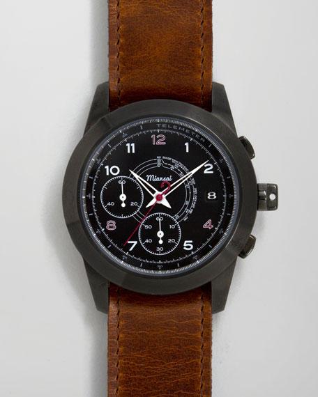 M2 PVD Chronograph Watch, Cognac