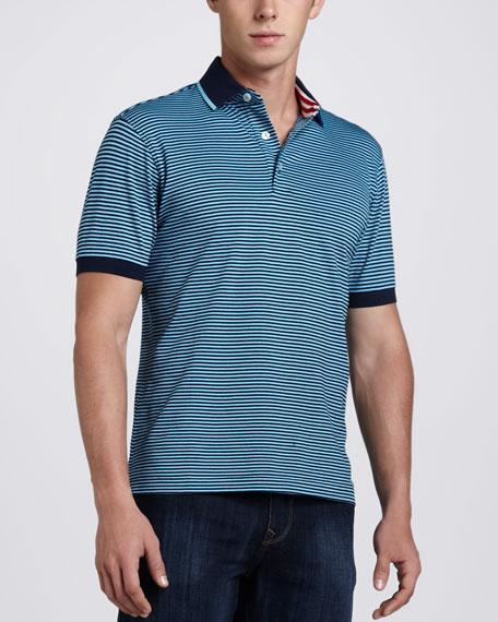 X-Collection Barcelo Striped Polo, Blue