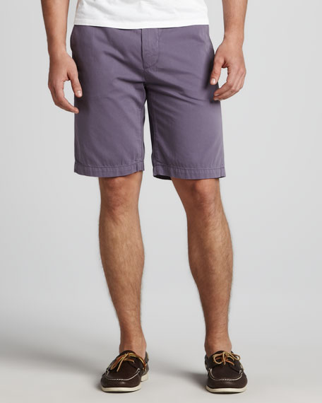 Chino Twill Shorts, Purple