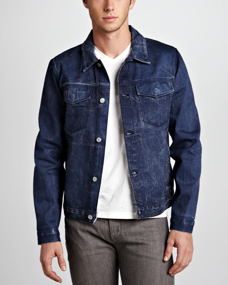 Selvedge Denim Jacket, Navy Blue