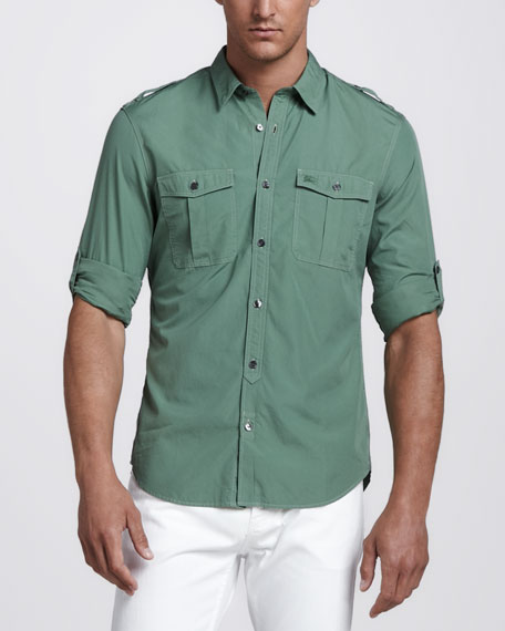 Military Shirt, Green