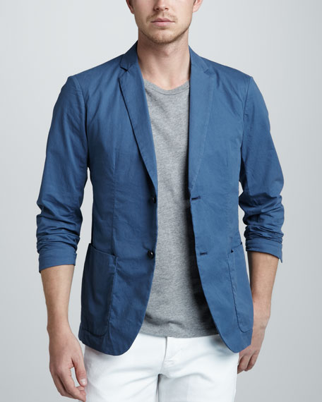 Two-Button Jacket, Blue