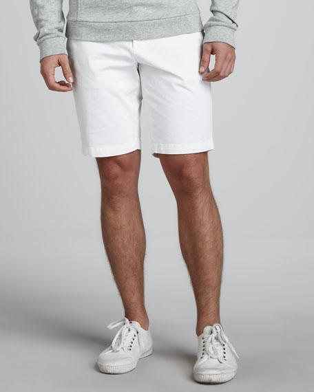 Twill Trouser Shorts, White