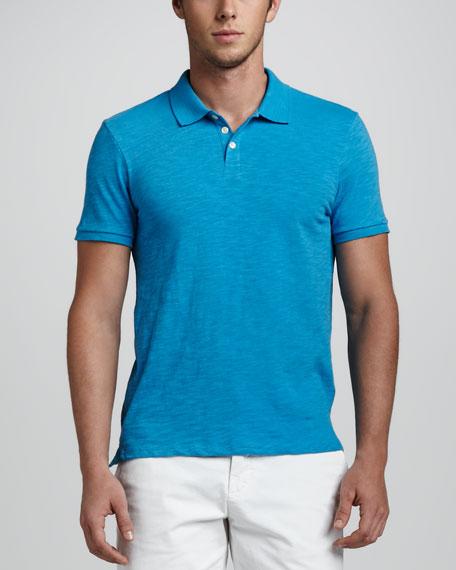 Slub Jersey Polo, Turquoise