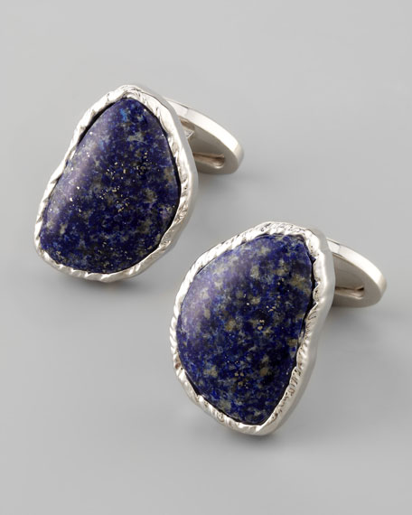 Abstract Lapis Cuff Links