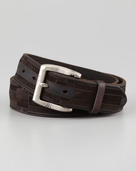 Laser Cut Leather Belt