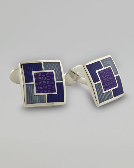 Multi-Square Cuff Links, Violet