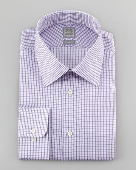 Graph-Check Dress Shirt, Purple