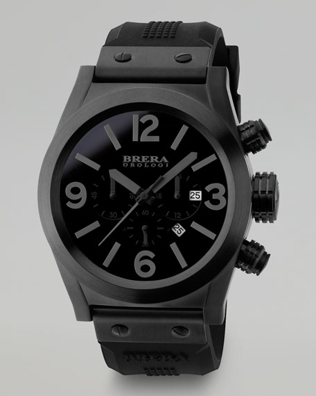 Eterno Chronograph Watch, Black