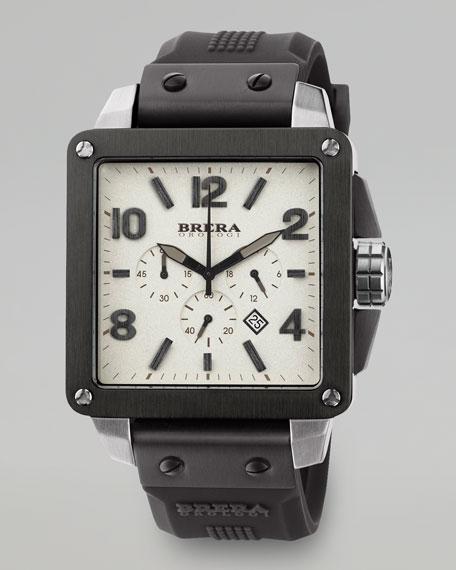 Quattro Chronograph Watch, Black/White