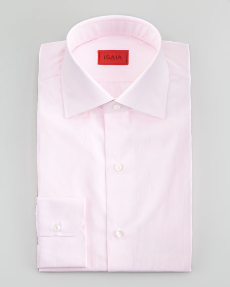 Glen-Check Slim-Fit Dress Shirt, Pale Pink