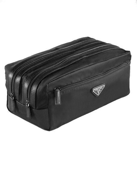 Nylon Double-Zip Travel Kit