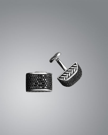 Chevron Black Diamond Cuff Links