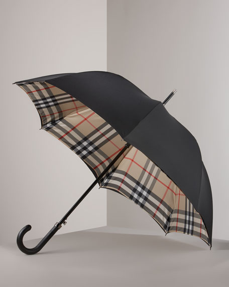 Check-Lined Umbrella