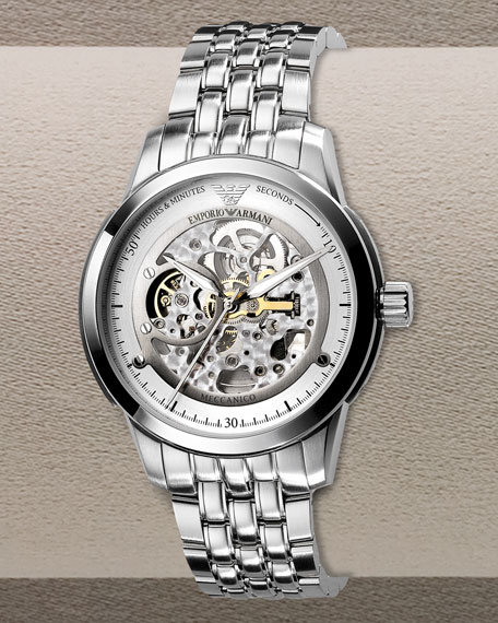 Automatic Skeleton Bracelet Watch