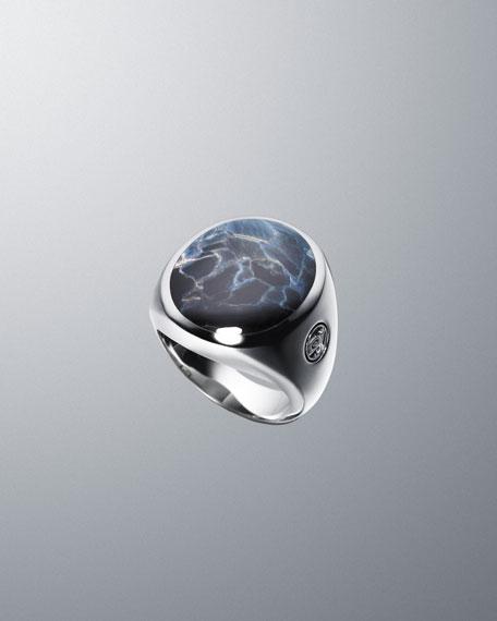 Pietersite Exotic Stone Inlay Ring