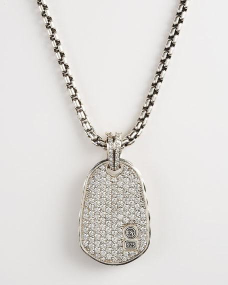 Pave Chevron Dog Tag Necklace