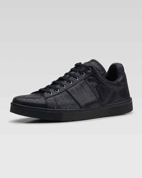 Coated Canvas Sneaker